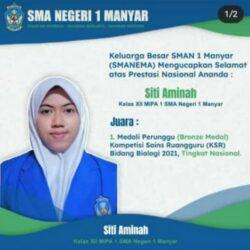 Siswa SMAN 1 Manyar Raih Medali Perunggu dalam KSR Tahun 2021