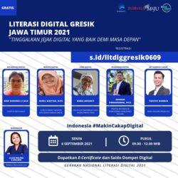 WEBINAR LITERASI DIGITAL GRESIK JAWA TIMUR 2021